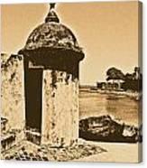Guard Post Castillo San Felipe Del Morro San Juan Puerto Rico Rustic Canvas Print