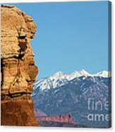 Guardian Of Arches Canvas Print