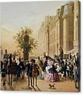Guerard: Cafe Tortoni, 1856 Canvas Print