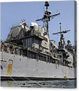 Guided Missile Cruiser Uss Bunker Hill Canvas Print