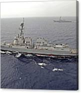 Guided Missile Destroyers Uss Dewey Canvas Print