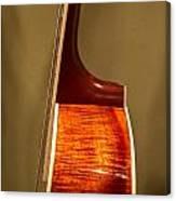 Guitar Wood Grain Exposed Canvas Print