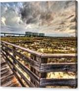 Gulf State Park Boardwalk Corner Canvas Print