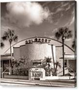 Gulfport Casino In Sepia Canvas Print