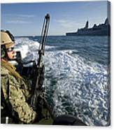 Gunner Mans A .50-caliber Machine Gun Canvas Print
