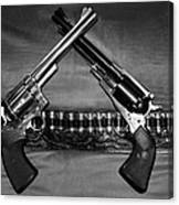 Guns In Black And White Canvas Print