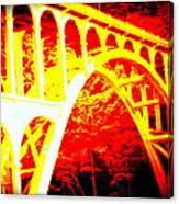 Haceta Head Bridge In Abstract Canvas Print