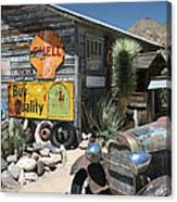 Hackberry Signs   Arizona Route 66 Canvas Print
