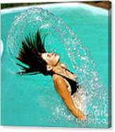 Hair Fling Canvas Print