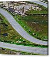 Hairpin Bends In The, Healy Pass, Beara Canvas Print