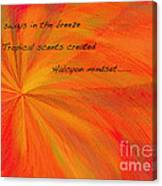 Halcyon Haiku Canvas Print