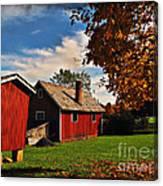 Hale Farm In Autumn Canvas Print