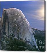 Half Dome Moon Rise Canvas Print