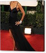 Halle Berry  Wearing A Nina Ricci Gown Canvas Print