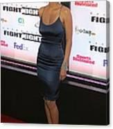 Halle Berry Wearing A Rachel Roy Dress Canvas Print