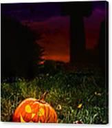 Halloween Cemetery Canvas Print