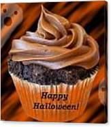 Halloween Cupcake Canvas Print