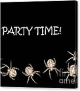 Halloween Greetings. Spider Party Series #01 Canvas Print