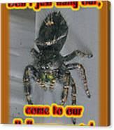 Halloween Party Invitation - Salticid Jumping Spider Canvas Print
