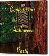 Halloween Party Invitation - Skeleton Canvas Print