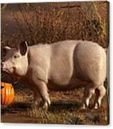 Halloween Pig Canvas Print