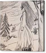 Halloween Witch Walk Canvas Print