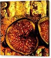 Halved Fig Canvas Print