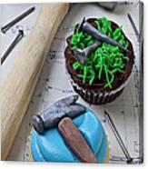 Hammer Cupcake Canvas Print