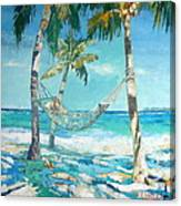 Hammock And Palms Canvas Print