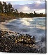 Hana Beach And Wave Canvas Print