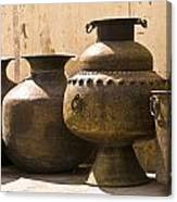 Hand Crafted Jugs, Jaipur, India Canvas Print