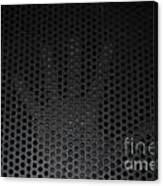 Hand On Metal Grating Canvas Print