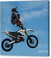 Hanging On Motorcycle Tricks  Canvas Print