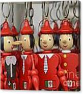 Hanging Pinocchios Puppets Canvas Print