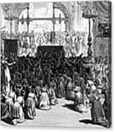 Hannukah Celebration, 1880 Canvas Print