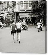 Hanoi Girls Canvas Print