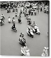 Hanoi Traffic Canvas Print