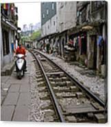 Hanoi Train Tracks Canvas Print