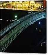 Hapenny Bridge, Dublin City, Co Dublin Canvas Print