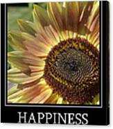 Happiness Peach Sunflower Canvas Print