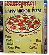 Happy Angkor Pizza Sign Canvas Print