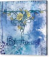 Happy Birthday - Card Design Canvas Print