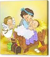 Happy Birthday Jesus Book Cover Art Canvas Print