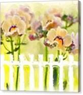 Happy Flower Faces Canvas Print