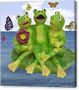 Happy Frogs Canvas Print
