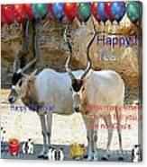 Happy Gnu Year Canvas Print