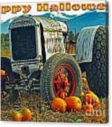 Happy Halloween Card Canvas Print