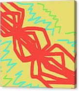 Happy Helix Radiates Energy Canvas Print