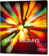 Happy Holidays Card Canvas Print