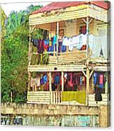Happy Hour Washday Belize Canvas Print